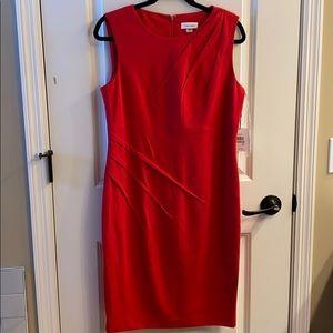 Calvin Klein NWTs Red Sheath Dress